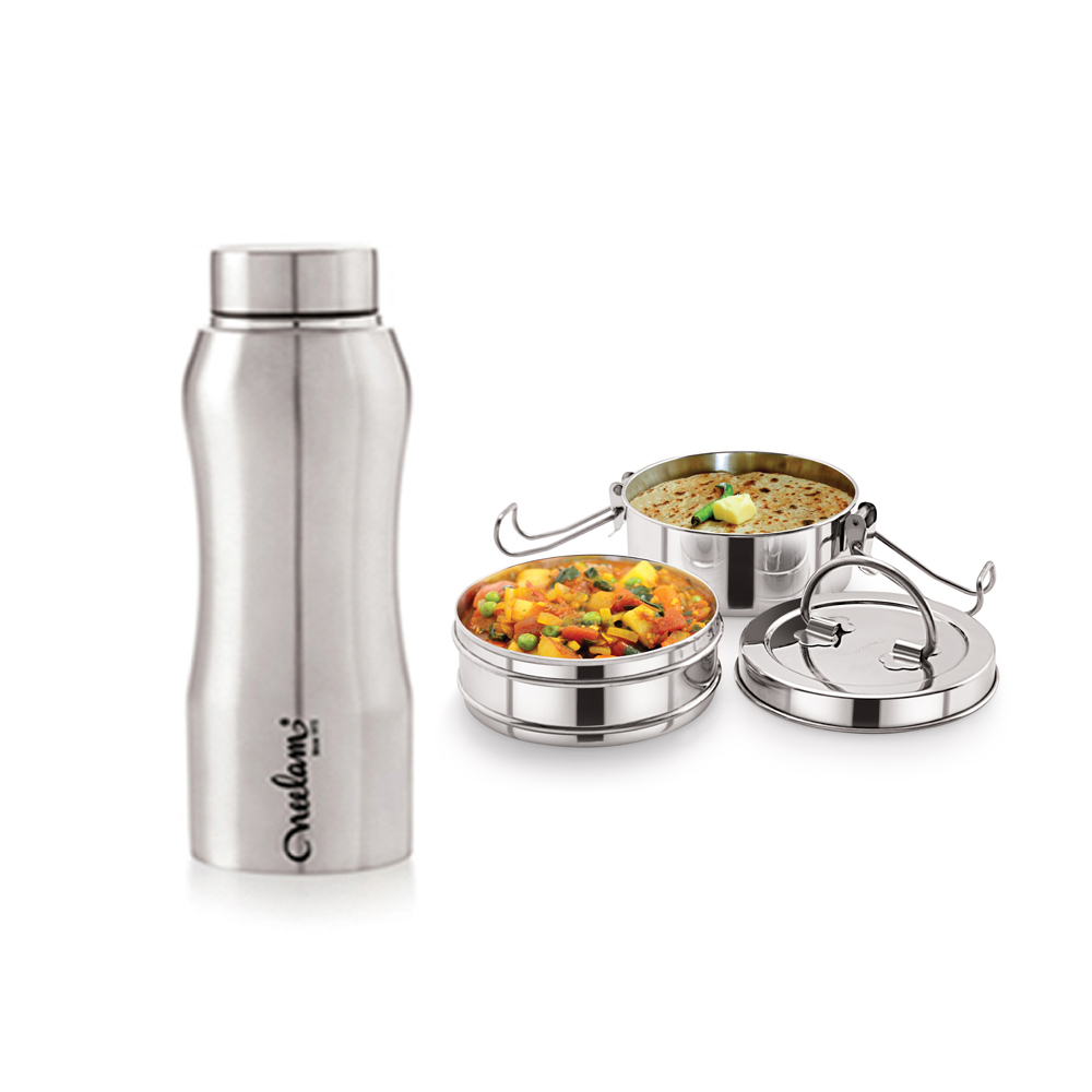 Neelam Combo 3 Tiffin with Bottle