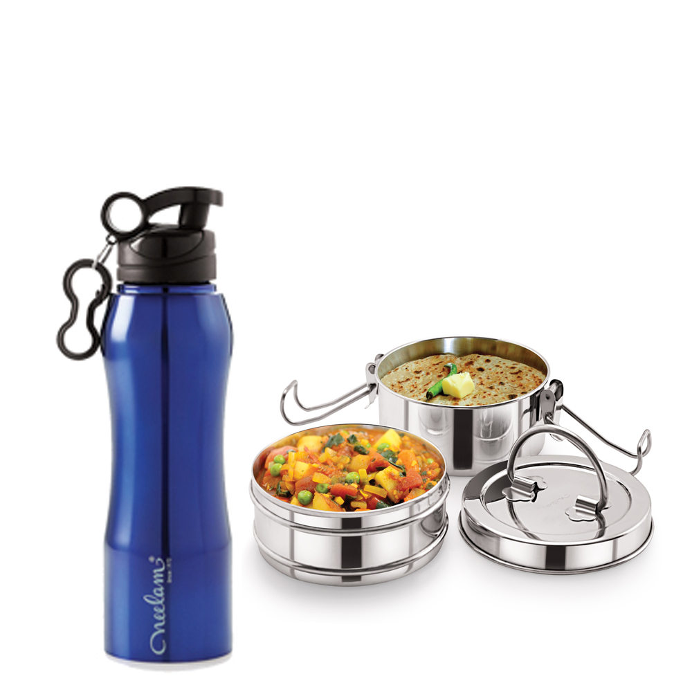 Neelam Combo 16 Tiffin with Bottle